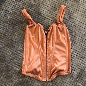 Vintage Gold boned corset shaper